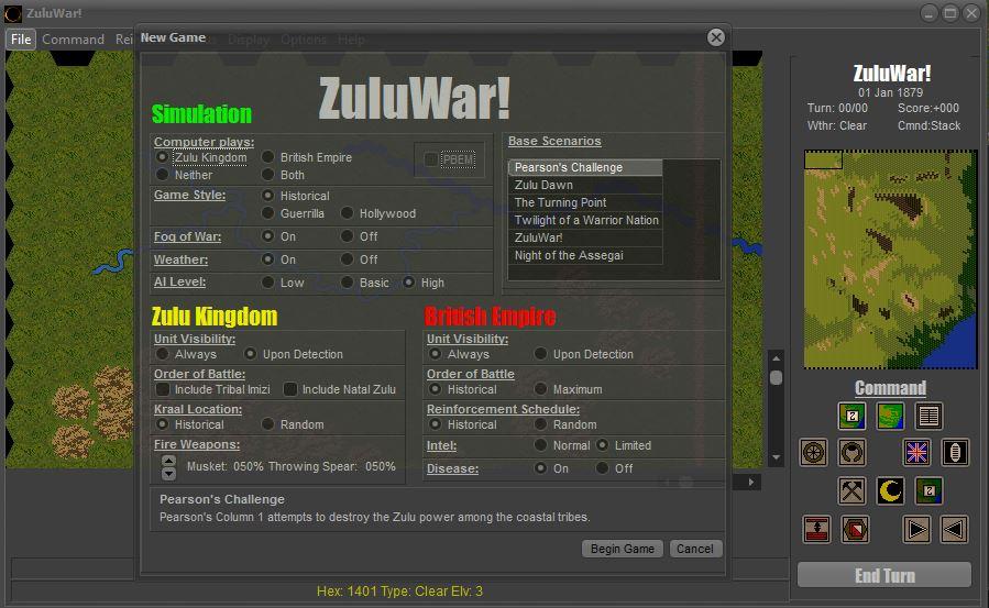 ZuluWar! Options